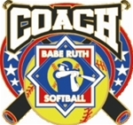 Babe Ruth Softball League Coach Award Pin