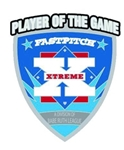 Silver Extreme Softball Pins.  Top will say: Player of the Game