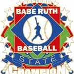 Babe Ruth National Baseball State Champion Pins. 1-1/4 Die struck enamel lapel pin with acrylic presentation case.