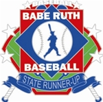 Babe Ruth National Baseball State Runner-Up Pin. 1-1/4 Die struck enamel lapel pin with acrylic presentation case.