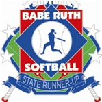 Babe Ruth National Softball Stste Runner-Up Pin. 1-1/4 Die struck enamel lapel pin with acrylic presentation case.