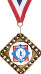 This versatile 3.5 medal can be used as either a diamond or square shaped medal.  Customize a 2 insert for center or choose a stock mylar.