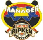 Cal Ripken Baseball Manager Pin.  Show your appreciation & recognize the mamanger(s) that gave their valuable time, experience, and knowledge for the love of the game and for our kids with this full color enamel recognition pin!  Exclusive Trademarked Officially Licensed League Logo!  Available here ONLY!