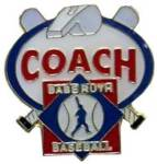 Babe Ruth Baseball Coach Award Pin.  Show your appreciation & recognize the coach(s) that gave their valuable time, experience, and knowledge for the love of the game and for our kids with this full color enamel recognition pin!