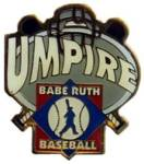 Babe Ruth Baseball Umpire Award Pin.  Show your appreciation & recognize the person(s) that gave their valuable time, experience and knowlege in calling the balls & strikes during the game or season.  A great way to say THANKS!  Exclusive Trademarked Officially Licensed League Logo!  Available here ONLY!