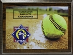 Softball Sublimated-Direct Full Color Graphic Plaque