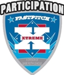 Silver Extreme Softball Participation Pins.
