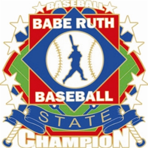 Babe Ruth National Baseball State Champion Pin : Babe Ruth