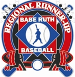 Babe Ruth National Baseball Regional Runner-Up Pin. 1-1/4 Die struck enamel lapel pin with acrylic presentation case.