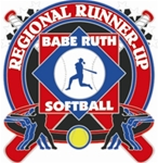 Babe Ruth National Softball Regional Runner-Up Pins. 1-1/4 Die struck enamel lapel pin with acrylic presentation case.