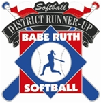 Babe Ruth National Softball District Runner-Up Pin. 1-1/4 Die struck enamel lapel pin with acrylic presentation case.