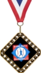 This versatile 3.5 medal can be used as either a diamond or square shaped medal. Customize a 2 insert.