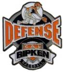 Cal Ripken Baseball Defense Award Pin.  Recognize the player(s) that show their defensive prowess and excellence with this full color enamel pin!  Exclusive Trademarked Officially Licensed League Logo!  Available here ONLY!