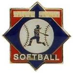 Babe Ruth Softball Trademarked Logo Trading Pin.  Show your organization affiliation with this full color enamel trading pin.  A great way to display your true colors. Exclusive Trademarked Officially Licensed League Logo!  Available here ONLY!