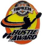 Cal Ripken Baseball Hustle Award Pin.  Recognize the player(s) that show their desire, passion and love of the game with this full color enamel pin!