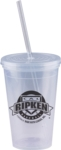 Double-wall Translucent Polypropylene with a Snap on Lid. 